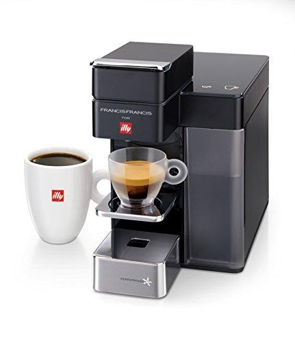 Francis Francis for Illy 60068 Y5 Duo Espresso & Coffee Machine, Black |