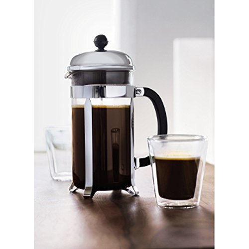 Bodum Chambord 4 Cup French Press Coffee Maker 17 Ounce Chrome